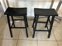 two black wooden bar stools North Las Vegas, 89032