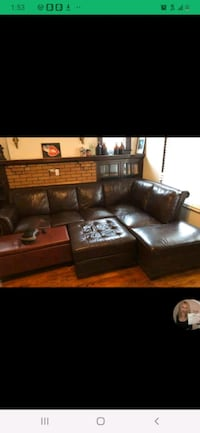 Sectional and ottoman