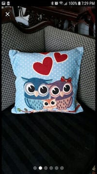 Family of 3 owls pillow case 18 inches  South Riding, 20152