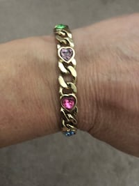silver and pink beaded bracelet Riverdale, 07457