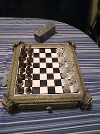 brown wooden chess board set