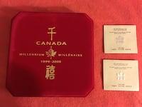 1999-2000 Millennium Canada Coins Chinese Special Edition Set