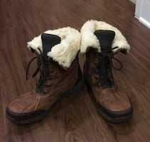 Ugg brown leather winter boots