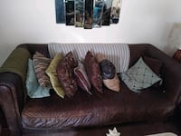 Real leather couch pillows included and the throw! will negotiate!!! Hyattsville, 20782