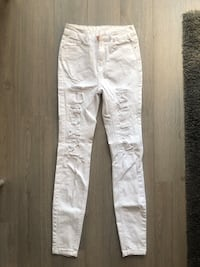 NEW High Rise Skinny White Ripped Jeans  Markham, L3R 0G3