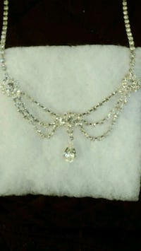 Teardrop Rhinestone Necklace Henderson, 89052