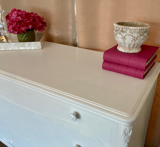 Newly Refinished Solid Wood 3 Drawer Dresser - White a476060b-215f-4729-93f3-c7de087e690c