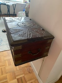 AMAZING WOOD AND METAL EUROPEAN TRUNK, UNIQUE STYLE IS AVAILABLE NOW!! Sterling, 20164