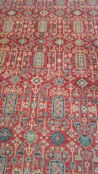 red and green floral textile pakistan rug Blooming Grove, 10914