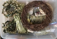 four brown and green wreaths