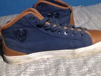 pair of blue-and-brown canvas high-top sneakers Edmonton, T5L 0S3