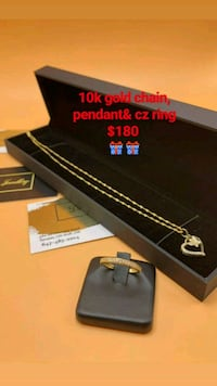 10k real gold chain, pendant & Ring ONLY Toronto, M1K 1N8