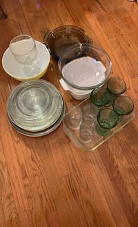 28 pieces glassware cooking, baking, glass cups Fort Washington, 20744