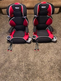 Two red-and-black rolling armchairs Kenosha, 53140