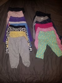 Lot of 6-9 month girls onesies and bottoms.