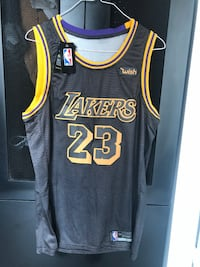 Lebron James Lakers Jersey (Black) Large Washington, 20002
