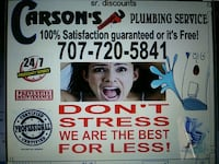 All Plumbing and Drain services. 24/7 Suisun City, 94585