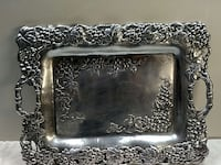 silver floral serving tray Montclair, 22025