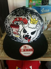 black and white Chicago Bulls fitted cap Costa Mesa, 92626