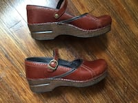 Pair of brown leather Dansco clogs shoes  Hurst, 76053