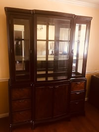 Brown wooden framed glass China cabinet Temple Hills, 20748