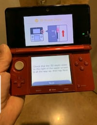 Nintendo 3DS Flame RED WITH 5 GAMES! 2 Zelda Games, Animal Crossing...