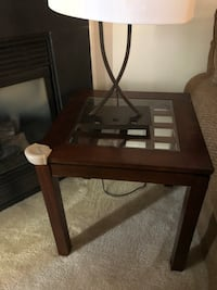 rectangular brown wooden framed glass-top coffee table Montgomery Village, 20886