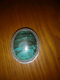 Sterling/Turquoise Pill Box