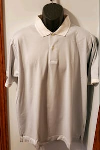 Nautica White With Light Blue Stripes Collared Shirt Middletown, 21769