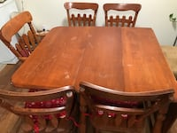 wood table and 5 chairs وادي سبوكان, 99206