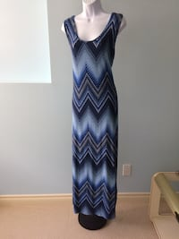 BLUE  STRIP  MAXIE  DRESS