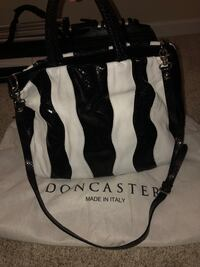 black and white leather tote bag Hagerstown, 21740