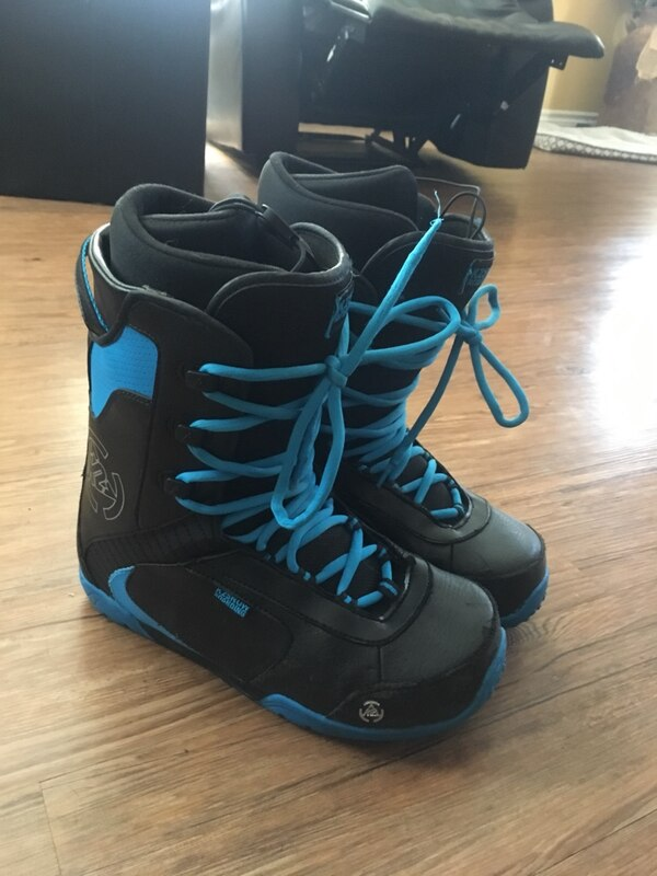 black and blue boots