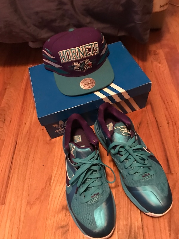 ed9d1d489a5d Used Lebron 9 hornets low with matching hat for sale in Seattle - letgo