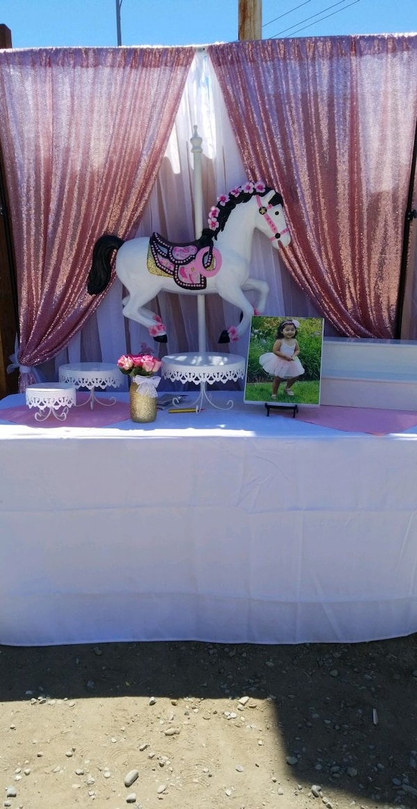 Used Unicorn Or Carousel Horse Party Decoration For Sale In San Jose