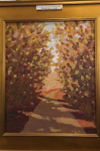 Canal path shadows painting by Gordon Haas New Hope, 18938