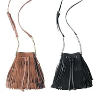 New faux leather fringe bucket purse Toronto, M3J 1E2