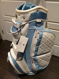 white and blue leather golf bag Pincourt, J7W