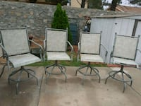 Four metal framed armchairs El Paso, 79924