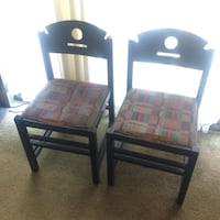 PAIR OF SIMPLE BLACK CHAIRS  Vancouver, V5N 4A3