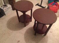 2 brown wooden round tables Sayreville, 08872