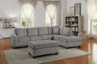 Brand New Sectional with Ottoman 1297 mi