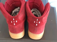Red Suede high top Nikes size 13 Oklahoma City, 73116