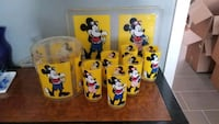 8 Pcs. Mickey Mouse Drinking Glass Set Bowie, 20715