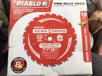 NEW: Diablo 7-1/4 in. 24-Teeth Demo Demon Framing/Demolition Saw Blade (10-Pack) Clifton, NJ, USA