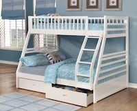 Brand new in box twin/full bunk bed with drawers Mississauga