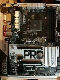 AMD AB350 pro motherboard for ryzen CPUs