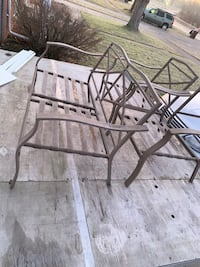 Patio bench and chairs