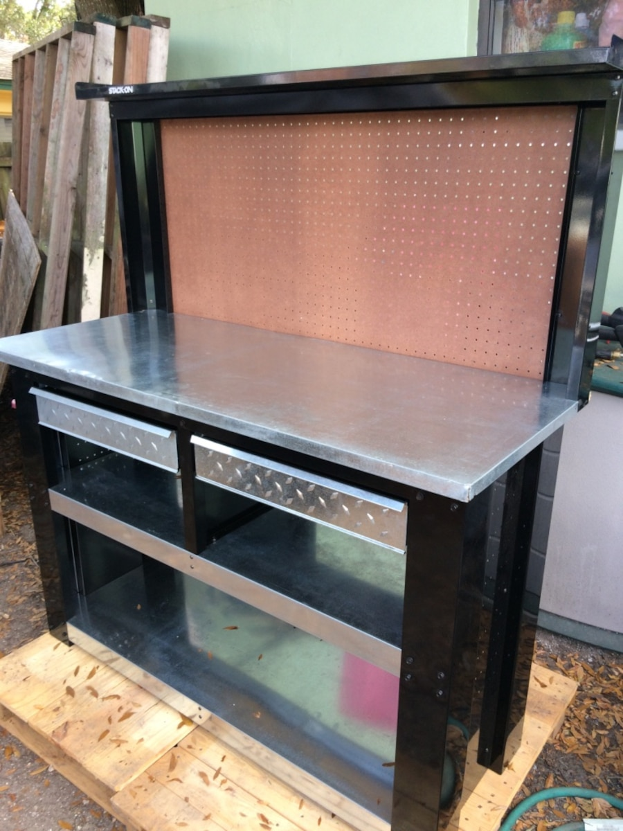 Stack On 54 Stainless Steel And Navy Heavy Duty Work Bench In Saint Petersburg Letgo