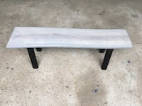 Grey wood bench Hamilton